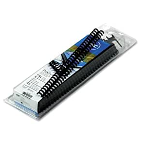 GBC ProClick Spines, 0.375 Inch, Navy Blue, 45-Sheet Capacity, 25 per Box (2515663)