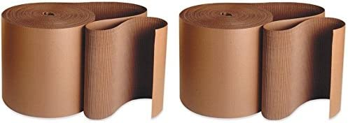 Kraft Pack of 2 Aviditi SF09 A Flute Single Face Corrugated Roll 250 Length x 9 Width