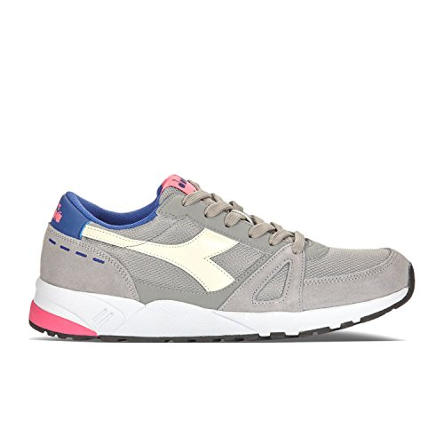 90 Sneaker Adults' Diadora GRAY Neck Low PALOMA C6491 FLUO PINK Unisex Run qZF7WxtF