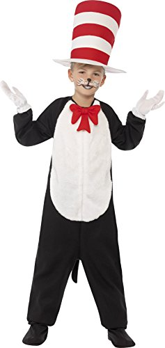 Cat Costume The Hat In Girls (Children's Cat In The Hat Jumpsuit Fancy Dress)