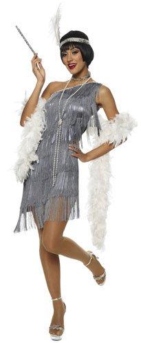 Dazzling Gun Metal Flapper Adult Costume Size Medium -