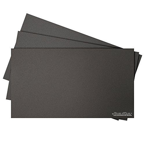 BuildTak 3D Printing Build Surface, 6.5'' x 11.5'' Rectangle, Black (Pack of 3) by BuildTak
