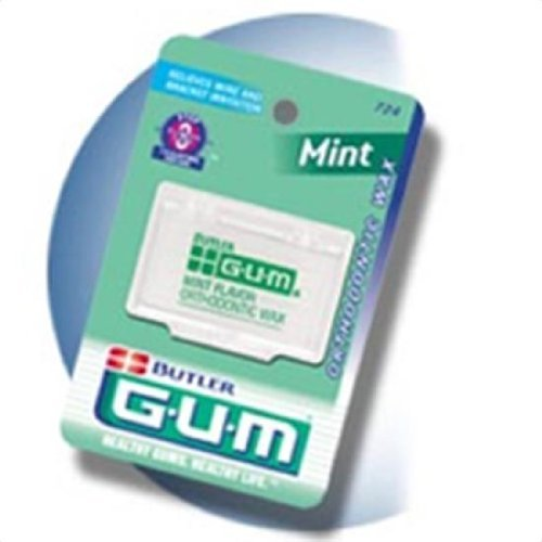 Sunstar G-U-M Ortho Wax, Mint Flavor (3 Pack) by Sunstar ()