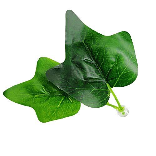 (ErYao Artificial Plant Leaf Betta Hammock Fish Rest Bed Tropical Aquarium Decor (Green))