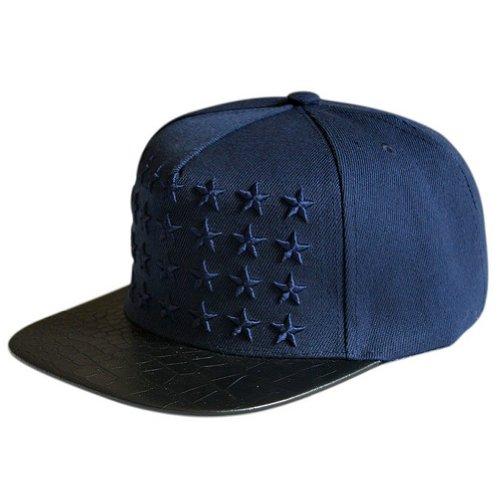 88993e05 LOCOMO Star Embroidery PU Leather Crocodile Skin Pattern Snapback Cap  FFH134RED