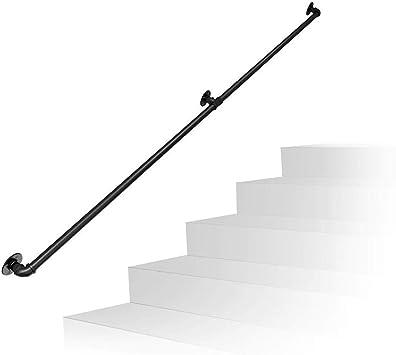 LNDDP Barandilla Negra para escaleras en Interiores y Exteriores | Soportes montados en la Pared Kit barandilla barandilla Escalera para rieles Seguridad jardín Piscina: Amazon.es: Deportes y aire libre