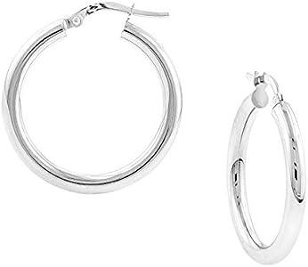huggie 0.75 silver Handmade hoop earrings Sterling 300122 fine solid 925 silver hoops Stamped 925