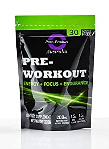Pure Product Australia Pre-Workout Powder, Watermalon 300 grams