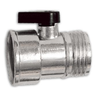 hut-Off Valve - No-Rust Zinc Alloy - Control Flow at Hose-End -Taiwan ()