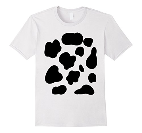 Mens Funny Cow Pattern Print Halloween Farmer T-shirt Medium White - Out Of Print Costume Patterns