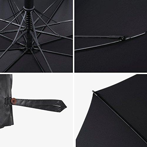 49fc6db3e8a1 Amazon.com : DJDL Rain Umbrellas Solid Color 8 Bone Golf Umbrella ...