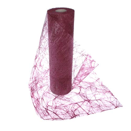 Deko AS GmbH Sizoweb Table Runner Wine Red:, Reusable and Customizable in Length (Cut & go) - Perfect for Decorating Seasonal, Wedding, Dinner and Party Tables (Covers 10 8ft Tables)]()