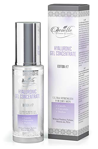 Hyaluronic Acid Serum Face Gel Made in Germany I Edition 7 with Chamomile Mallow Calendula