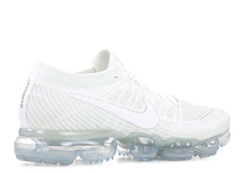 Nike Air Mens Vapormax Flyknit Scarpe Da Corsa Bianco, Bianco-sail Luce Ossa