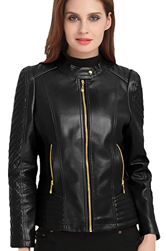 Quilted Leather Cropped Jacket - 1