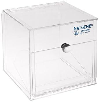 Nalgene 5830-0002 Acrylic Lab Organizer Dispensing Bin, Front Opening, 152mm Length x 152mm Height x 152mm Depth