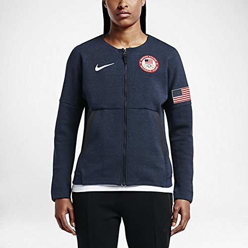 Nike Women's Team USA 2016 Authentic Olympics Tech Fleece Red White Blue (Small)