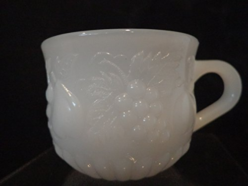Milk Glass Punch Cup, Embossed Milk Glass Punch Bowl Cup (Punch Milk Bowl Glass)