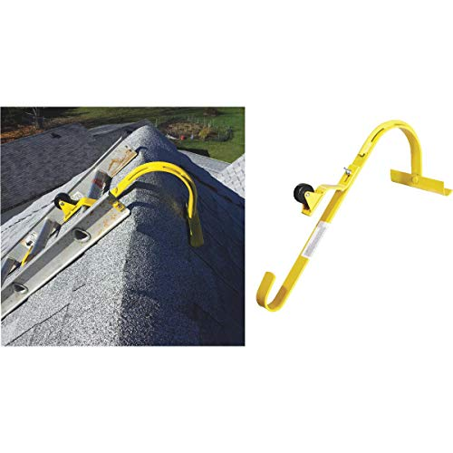 Roof Ridge Ladder Hook with Fixed Wheel & Swivel Bar (Building Roof)