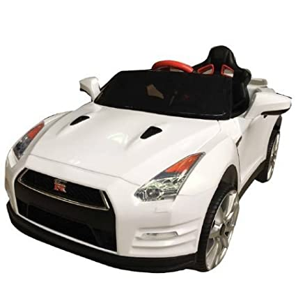 Amazon Com Wonderlanes Nissan Gtr R35 Ride On 12v 1 Seater White