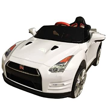 Wonderlanes Nissan GTR R35 Ride On 12V 1 Seater (White)