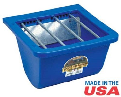 Miller Little Giant Blue Foal Feeder with Adjustable Bar Selection That Keeps Mares Out While Allowing Foals Easy Acces