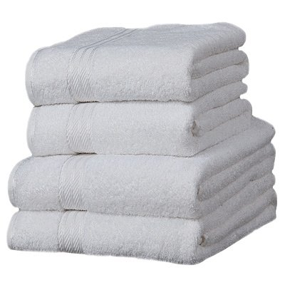 Linens Limited Supreme 100% Egyptian Cotton 4 Piece Guest Towel Set, White