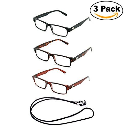 Plastic Frame Fashion (Newbee Fashion- Unisex Simple Design Rectangle Plastic Frame Reading Glasses with IG Logo)