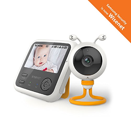 Wisenet SEW-3048WN BabyView Eco Video Baby Monitor with 4.3 inch LCD Display, Digital Camera, IR Night Vision, Temperature Sensor, Lullabies and Two Way Talk