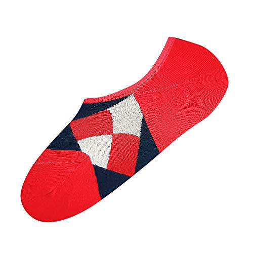 Ugood Flag Socks Casual Work Business Cotton Fashion Sock Comfortable (Wine Red)