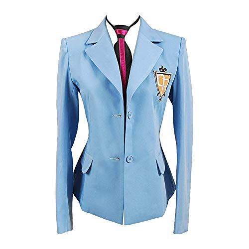 Anime Ouran High School Host Club Cosplay King Costume Japanese School Uniform Blazer Costume (M) Blue (Ouran High School Host Club English Cast)