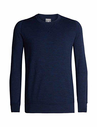 bec96dcdb0 Icebreaker Merino Men's Shifter Long Sleeve Crewe Athletic Sweaters,  Medium, Dark Night Heather