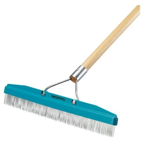 Commercial Groomer Carpet Rake - 18 Wide with 54 Long Handle by Carlisle