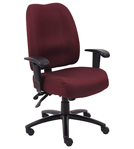 Dido Mid-Back Task Chair Fabric: Burgundy, Tilt: Standard