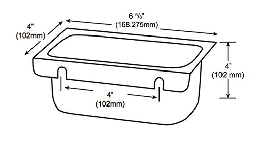 Removable Keyhole Mount Grease Cup for Restaurant Hoods - 4'' x 6 5/8'' x 4'' by Compenent Hardware (Image #4)