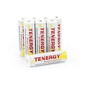 Combo: 8 Tenergy AA NiCd 1.2V Rechargeable Batteries for Garden Landscaping Solar Lights