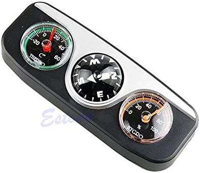 3 in 1 Guide Ball Compass Thermometer Hygrometer For Auto Boat Vehicles heP z
