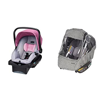 Evenflo LiteMax 35 Infant Car Seat Azalea With Weather Shield And Rain
