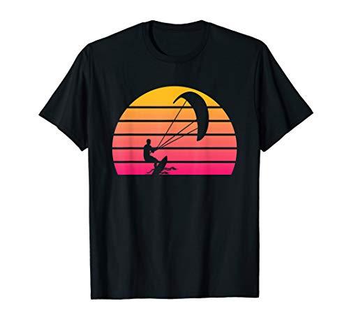 Kiteboard T Shirt Retro Kiteboarding T-Shirt Gift Sunset
