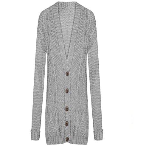 gris JAVOX Gilet Femme Fashion's clair n1H1Fgryc