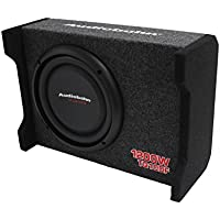 AUDIOBAHN TORQ TQ10DF 10 1200W Car / Truck Shallow Mount Down Firing Slim Loaded Box Thin Flat Enclosed Subwoofer Bass 5/8 MDF Air-Tight Sealed Enclosure