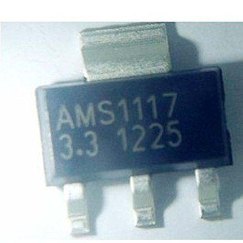 20 Pcs AMS1117-3.3 3.3V 1A Fixed Low Dropout Linear Voltage Regulator SOT-223 - Fixed Voltage Regulator