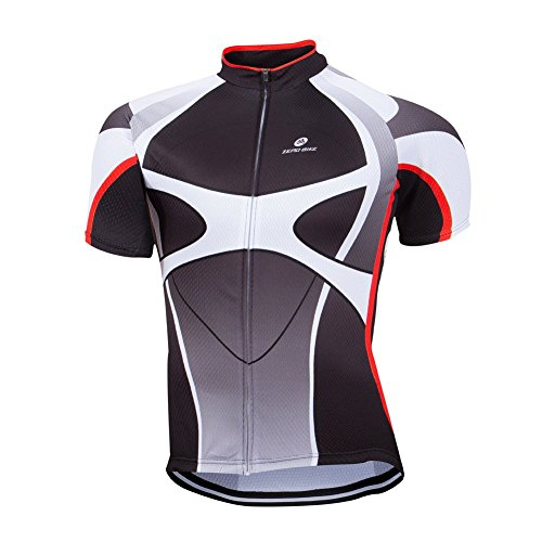 ZEROBIKE Men's Short Sleeve Cycling Jersey Jacket Cycling Shirt Quick Dry Breathable Mountain Clothing Bike Top