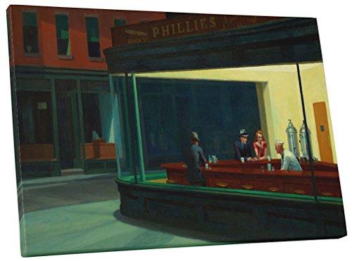 Pingo World 0226QUI9G0A Nighthawks by Edward Hopper Gallery Wrapped Canvas (30 x 20), 30
