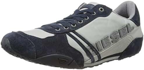Diesel Men's Harold Solar S Fashion Sneaker, Paloma/Blue Nights, 13 M US