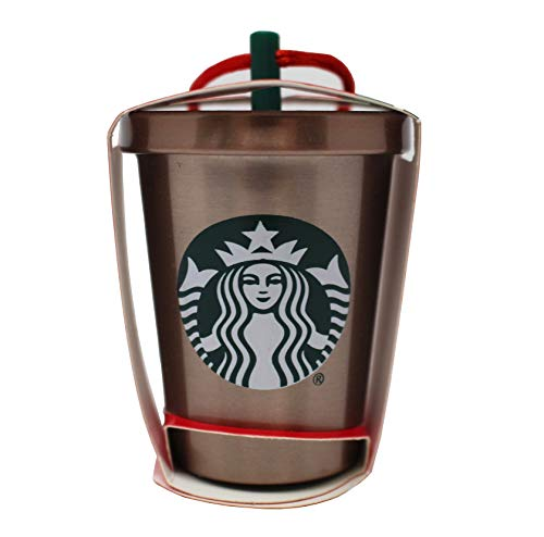 Starbucks 2018 Glitter Steel Cold Cup Holiday Christmas Tree Ornament ()