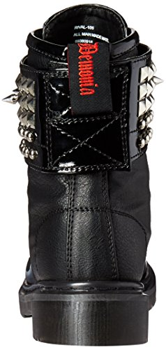 Bpu Women's Demonia Riv106 Pat Black Vegan Boot EAaEdq