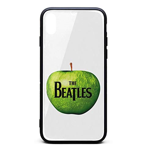 Bumper Cover for Apple iPhone X/XS TPU Soft Rubber Case with Hard PC Back Shell Shock Absorption The-Beatles-Vintage-Funny-Classic-Logo Slim