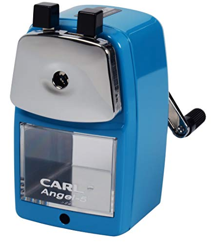 CARL Angel-5 Pencil Sharpener, Blue