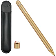 Ciscle [Electronic Stylus] Active Stylus Digital Pens with 1.8 mm Fine Point Copper Tip for iPhone/ iPad/ Tablet and other Capacitive Touchscreens Devices, Good for drawing and Handwriting (Gold)